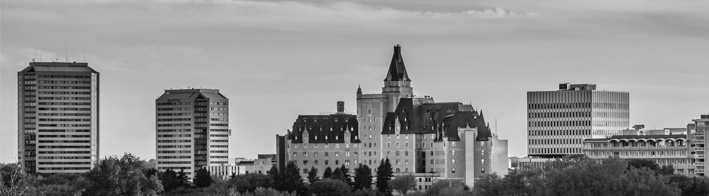 The Bessborough Hotel in Saskatoon, located along the South Saskatchewan River