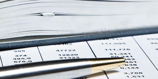 A pen sits over top a budget sheet
