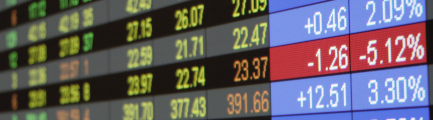 Real time quotes at the stock exchange