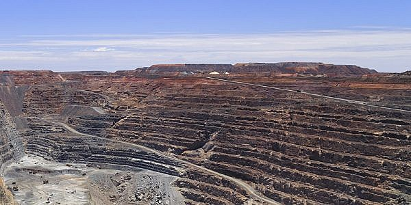 Gold mine - super pit in Kalgorlie, Western Australia